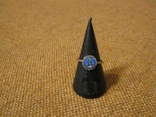 Alter Ring Mit Emaile / 800er Silber (fach 48) Bild