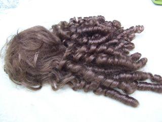 Alte Puppenteile Braune Locken Haar Perücke Vintage Doll Hair Wig 40 Cm Girl Bild