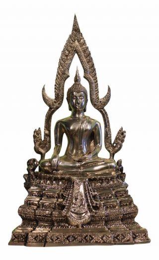 Sitzender Buddha Figur Statue Bronze China Skulptur Buddhismus Asiatika Unikat Bild