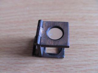 Antike Minilupe Vergrößerungsglas Früher Benutzt Für Briefmarken Bild