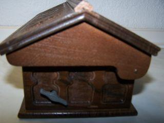 Edle Spieluhr Aus Holz Gearbeitet Bild