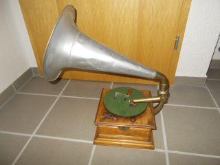 Trichtergrammophon Grammophon Horn Gramophone Bild