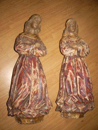 Handgeschnitzte Gothische Engel 16 - 17 Jahrh. Bild