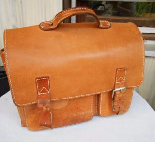 Alte Echt Leder Aktentasche,  Lehrertasche,  Schultasche,  Ledertasche Bild