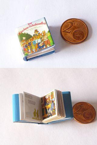 Winziges Miniatur Buch Der Häschen - Schulausflug Für Die Puppenstube 1:12 Bild
