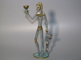 Hippokrates Von Kos Mit Äskulapstab Messing - Figur Skulptur Aeskulap - Stab Arzt Bild