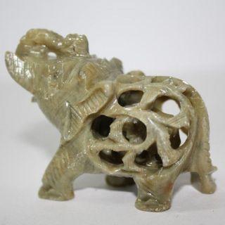 Kleiner Stein - Elefant - Indien Speckstein Nepal 1 Bild