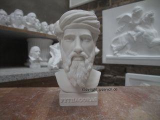 Pythagoras Gips BÜste Griechischer Philosoph Seelenwanderung SchÖn Selten Bild