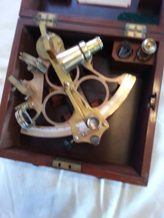 Originaler Nonius - Sextant Der Fa.  Heath & Co,  London,  1950 Bild