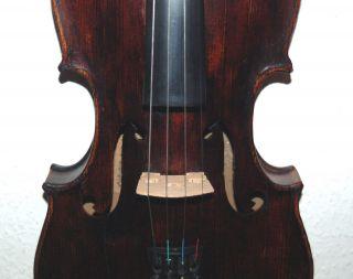 Alte 4/4 Geige,  Violine,  Mit Zettel,  Fecit Pragae,  Spielfertig Bild