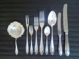 800er Silber Silberbesteck Tafelsilber Menübesteck 52 Teilig Für 7 Personen Bild