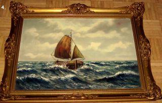 Top Niederländischer Kunstmaler - Ölgemälde - Marinemaler - Leinwand - Signatur Bild