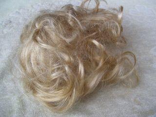 Alte Puppenteile Hellblonde Locken Haar Perücke Vintage Doll Hair Wig 30 Cm Girl Bild