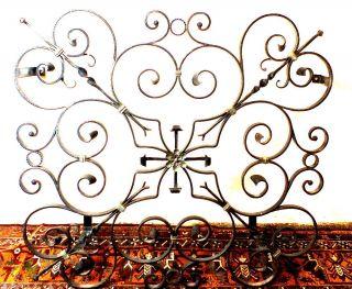 Altes Eisen Gitter - Für Fenster Oder ähnliches - 96cm X 89cm - Herzen Bild