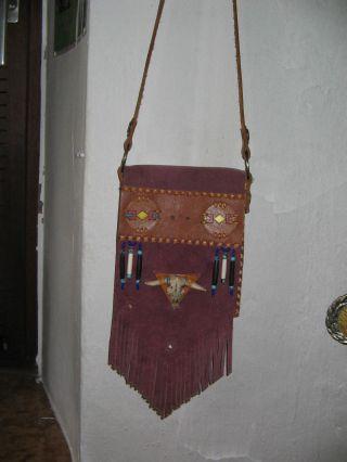 Indianer Umhängetasche Aus Einem Nachlass Bild