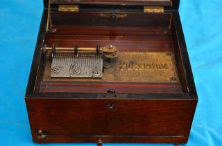 Altes Antikes Polyphon Walzenspieler Für Blechlochplatten Bild