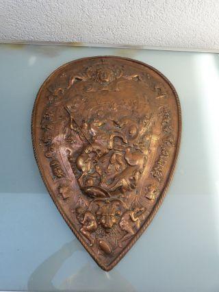 Wandrelief Schutzschild Kupfer   (l) Bild