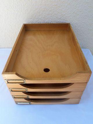Bauhaus Büroablage Holz 4stöckig Din A 4 Bild