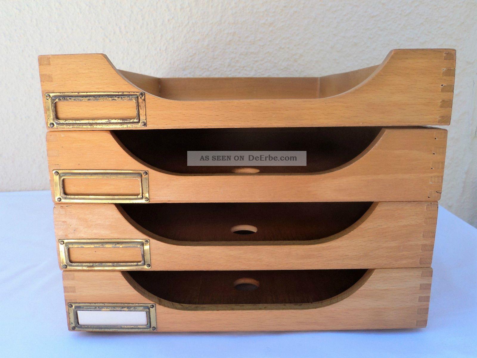Bauhaus Buroablage Holz 4stockig Din A 4