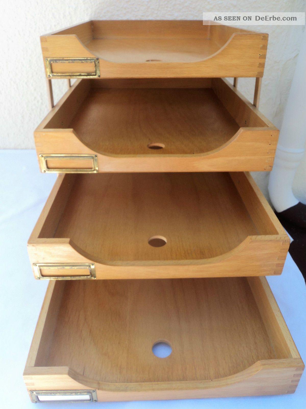 bauhaus b roablage holz 4st ckig din a 4. Black Bedroom Furniture Sets. Home Design Ideas
