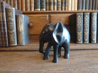 Abstrakte Elefanten Figur Holz Elefant Afrika Skulptur Kunst Afrikanisch Tier Bild