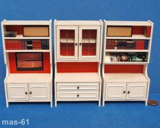 Lundby Wohnzimmer 3 Elemente Schrank 1:18 Puppenhaus Vintage Lisa Sweden Bild
