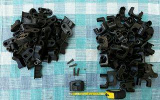 Antik Bakelit Kabelklemmen Aufputz Alte Kabel Schellen 12 Stück Bis 18 Mm Size S Bild