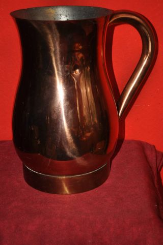Alte Kupfer Kanne / Krug 5 Liter Bild