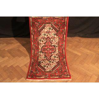 Schöner Handgeknüpfter Blumen Teppich Herati Nain Kum Carpet Tappeto 76x140cm Bild