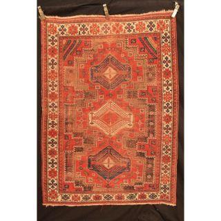Antiker Handgeknüpfter Orient Sammler Teppich Kazak Shirvan Kasak Carpet Antique Bild