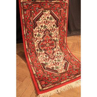 Schöner Handgeknüpfter Blumen Teppich Herati Nain Kum Carpet Tappeto 75x140cm Bild