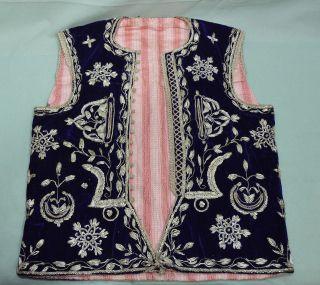 Sehr Alte Trachten Jacke Mit Reichlicher Silber Brokat Stickerei Bild