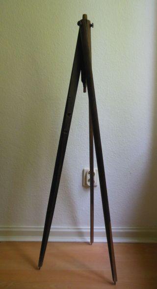 Stativ Aus Holz / Holzstativ,  109 Cm Hoch,  Dreibeinig,  Für Teleskop Oder Kamera Bild