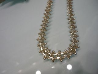 Antike Designer - Halskette - Gliederkette - 835er Silber - 43 Cm - Meisterpunze Bild