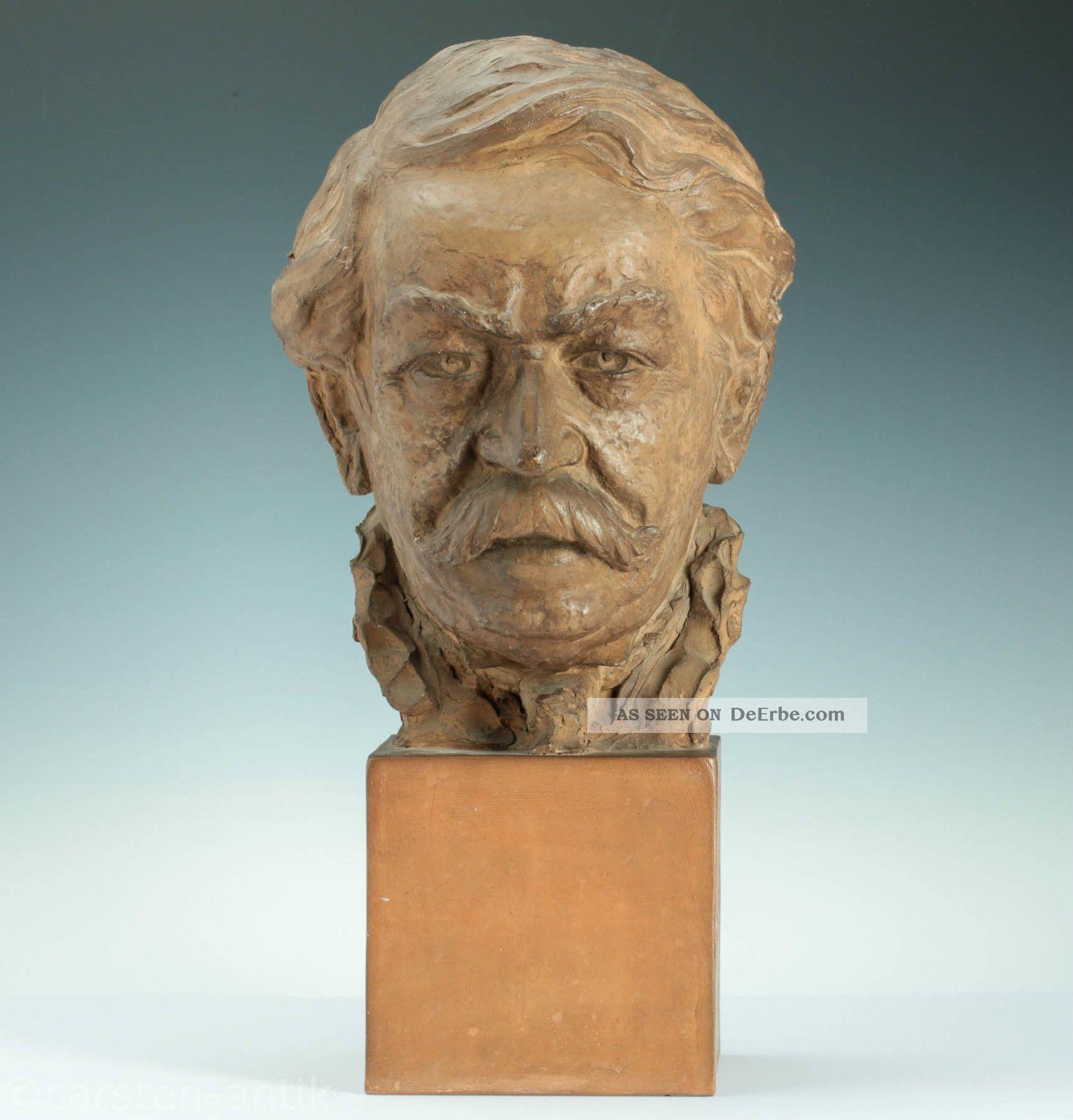 Lebensgroße & Handmodellierte Terracotta Büste G.  Regnauld Frankreich 1900 Bust 1900-1949 Bild