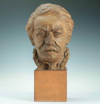 Lebensgroße & Handmodellierte Terracotta Büste G.  Regnauld Frankreich 1900 Bust Bild