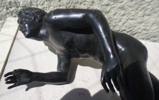Tolle Alte Bronze: Athlet,  Nackter Jüngling,  Grand Tour,  Neapel Um1850 Bild