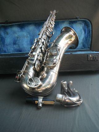 Altertümchen Tenor Saxophon Von Weltklang Sax Mit Koffer Bild