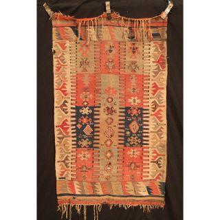 Antik Handgeknüpfter Sammler Teppich Kazak Kelim Rare Old Rug Carpet 144x83cm Bild