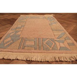 Wunderschöner Handgeknüpft Designer Orientteppich Nepal Tibet Carpet Rug 95x62cm Bild