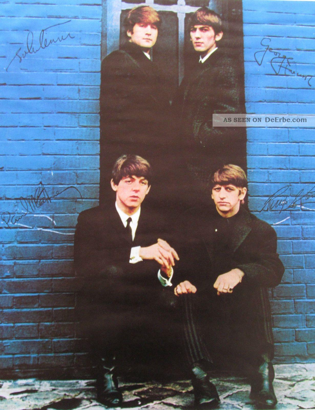 Beatles Altes Plakat 1963 London Palladium Und Eine Originale Karte Antike Bild