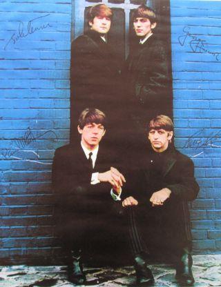 Beatles Altes Plakat 1963 London Palladium Und Eine Originale Karte Bild