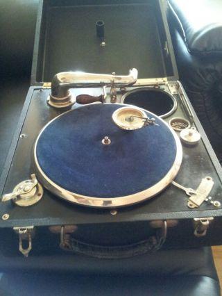 Seltenes Koffer / Reise Grammophon Von Getraphon Made In Germany Bild