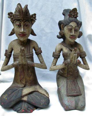 Old Bali Figur Dewi Und Dawa,  Bali,  Indonesien,  Südostasien Bild