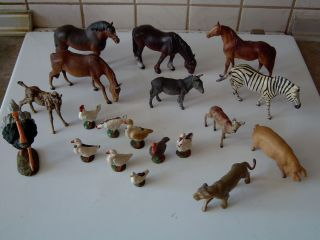 Konvolut Massefiguren Tiere (elastolin / Hausser / Lineol ?) Bild