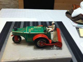 Blechspielzeug Traktor Von Wüco Made In German 50er Jahre Ca.  16cm Lang Bild