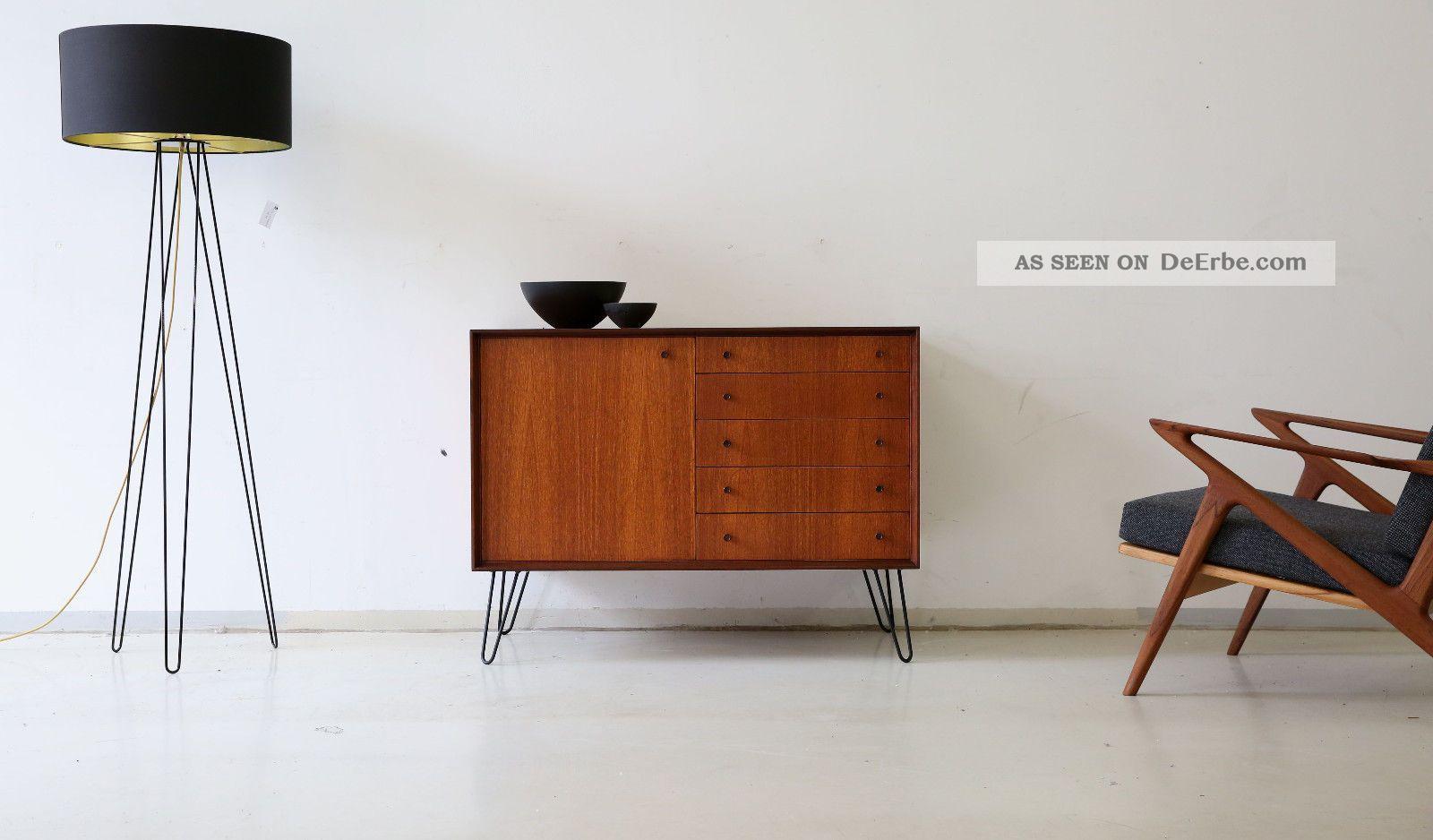 60er Teak Kommode Sideboard Danish 60s Cabinet Vintage Midcentury