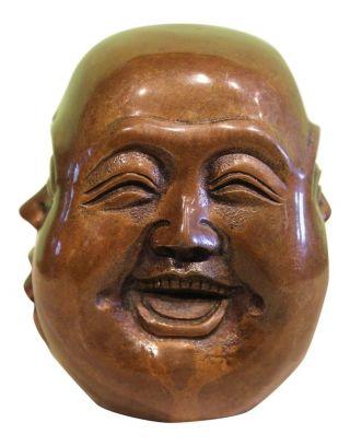 Hotai Buddha Kopf 4 Faces Figur Bronze Aus China Für Asien Liebhaber Bild