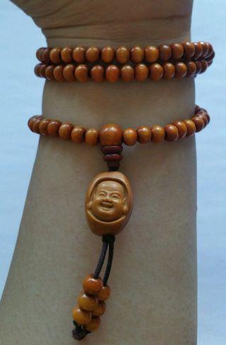 Tibetisch Mala Kette Malakette Gebetskette Armband Holz 6mm Buddha Olivenkern Bild