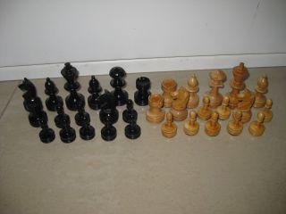 Wunderschöne Alte Schachfiguren In Schatulle,  Holz,  Kiste,  Handarbeit,  Schach Bild
